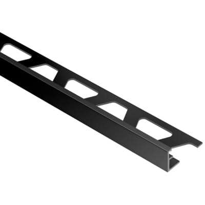 Jolly Bright Black Anodized Aluminum 1/2 in. x 8 ft. 2-1/2 in. Metal Tile Edging Trim