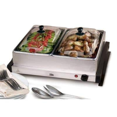 2.5 Qt. Stainless Steel Buffet Server with 2-Crocks