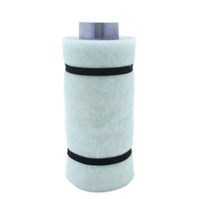 4 in. Carbon Air Filter 2 with Flange 55-110 CFM Exhaust