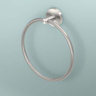 Level Towel Ring in Brushed Nickel