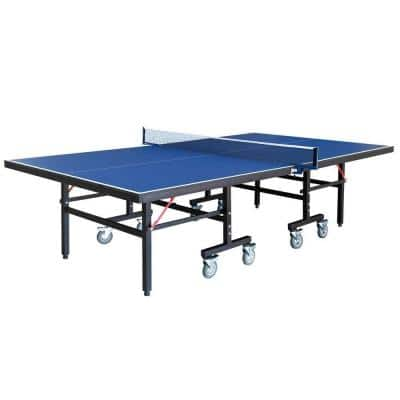 Back Stop 9 ft. Table Tennis for Family Game Rooms with Foldable Halves for Individual Play