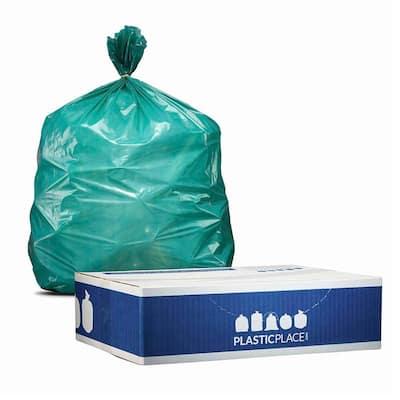 32-33 Gal. Green Trash Bags (Case of 100)