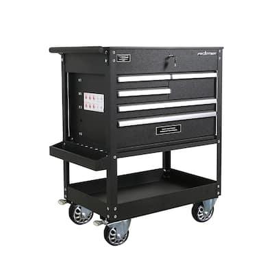 32.75 in. 5-Drawer Tool Utility Cart in Black
