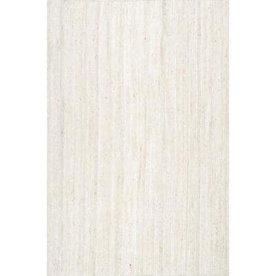 Rigo Chunky Loop Jute Off-White 2 ft. x 4 ft. Area Rug