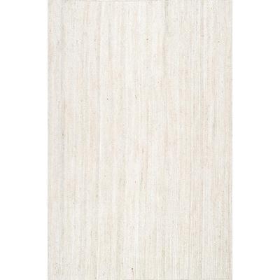 Rigo Chunky Loop Jute Off-White 3 ft. x 5 ft. Area Rug