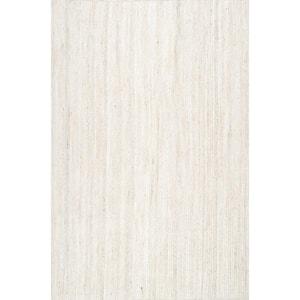 Rigo Chunky Loop Jute Off-White 8 ft. x 10 ft. Area Rug