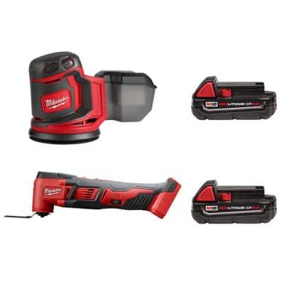M18 18-Volt Lithium-Ion Cordless 5 in. Random Orbit Sander with Multi-Tool and (2) 2.0 Ah Compact Batteries