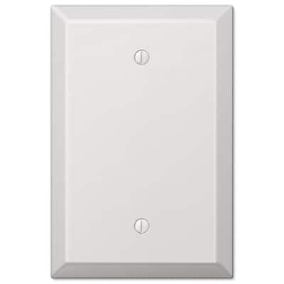 Oversized 1 Gang Blank Steel Wall Plate - White