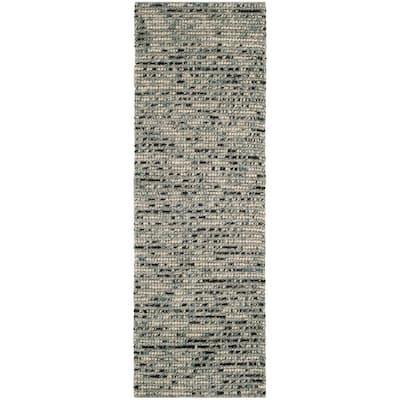 Bohemian Gray/Multi 3 ft. x 14 ft. Striped Runner Rug
