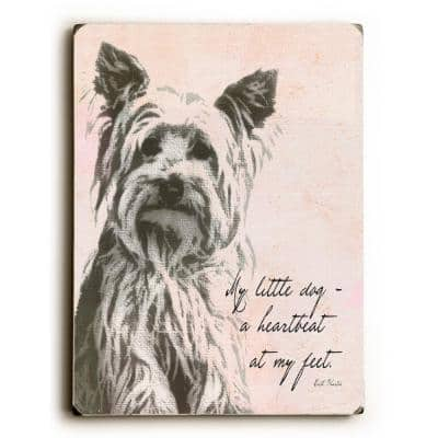 """9 in. x 12 in. """"My little dog"""" by Lisa Weedn """"Solid Wood"""" Wall Art"""