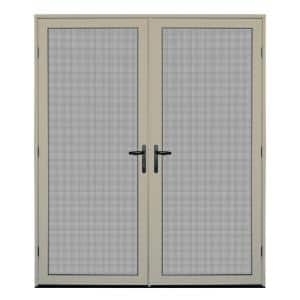 64 in. x 80 in. Almond Surface Mount Ultimate Security Screen Door with Meshtec Screen