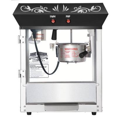 530-Watt 4 oz. Black Foundation Top Popcorn Machine with Starter Kit