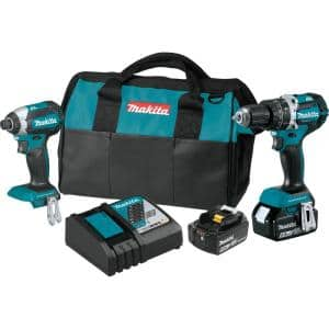 18-Volt LXT Lithium-Ion Brushless Cordless 2-Piece Combo Kit (Hammer Drill/ Impact Driver) 5.0 Ah