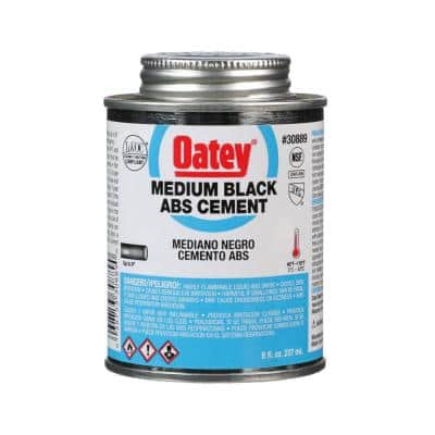 8 oz. Medium Black ABS Cement