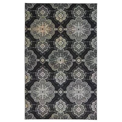 Isabella Charcoal 8 ft. x 10 ft. Indoor Area Rug