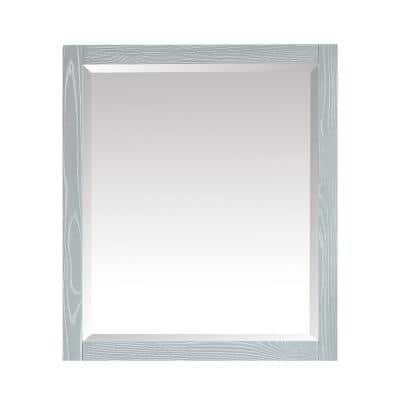 Riley 28 in. W x 32 in. H Framed Rectangular Beveled Edge Bathroom Vanity Mirror in Seal Salt Gray