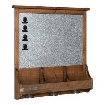 Stallard Rustic Brown Multi Function Magnetic Memo Board