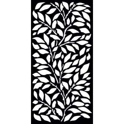 0.3 in. x 71 in. x 2.95 ft. Jungle Decorative Fence Panel Screen with Slimline Frame