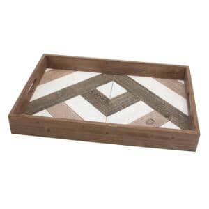 Brown Wooden Decorative Tray