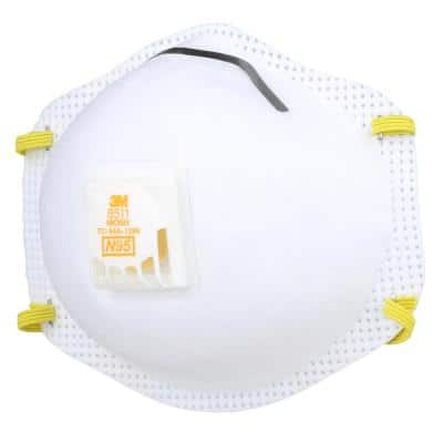 8511 N95 Sanding and Fiberglass Valved Respirator (5-Pack)