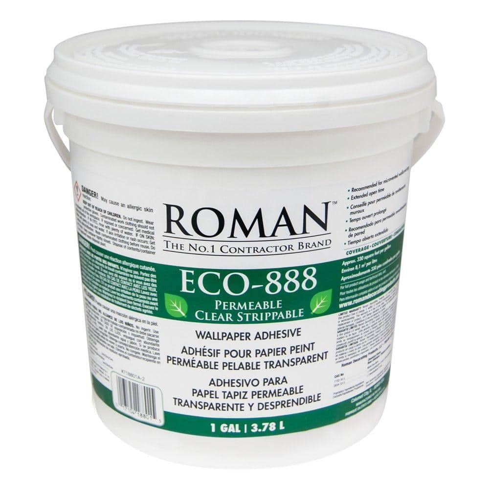 Roman ECO-888 1 gal. Strippable Clear Wallcovering Adhesive