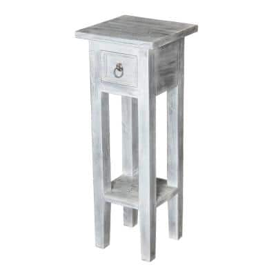 Sutter White Wash End Table