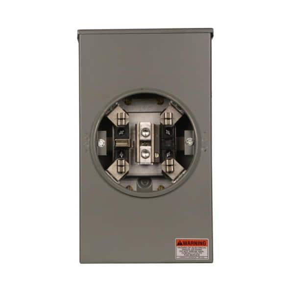 Eaton 200 Amp Single Meter Socket Coned Approved Urs202bcrch The Home Depot