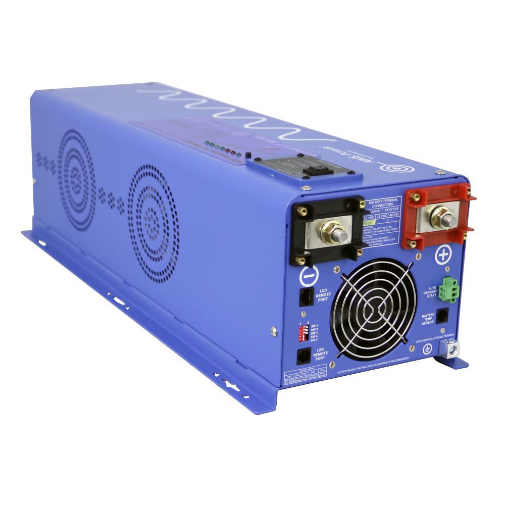 6,000-Watt Pure Sine Inverter Charger 48-Volt DC to 120-Volt/240-Volt AC Split Phase Output