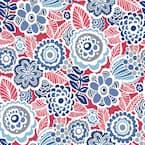 Dream On Red Multicolor Wallpaper Sample
