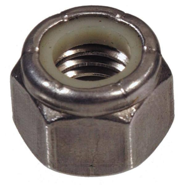 6-32 x 5//16 W x 11//64 H Nylon Insert Hex Lock Nut 10 Pcs of GR 2 BK Steel RH