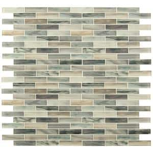 Lazio Brick 11.81 in. x 11.81 in. x 4mm Textured Glass Mesh-Mounted Mosaic Tile (19.4 sq. ft./Case)