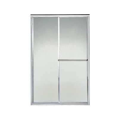 Deluxe 46-1/2 in. x 70 in. Framed Sliding Shower Door in Silver with Handle