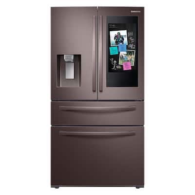 27.7 cu. ft. Family Hub 4-Door French Door Smart Refrigerator in Fingerprint Resistant Tuscan Stainless