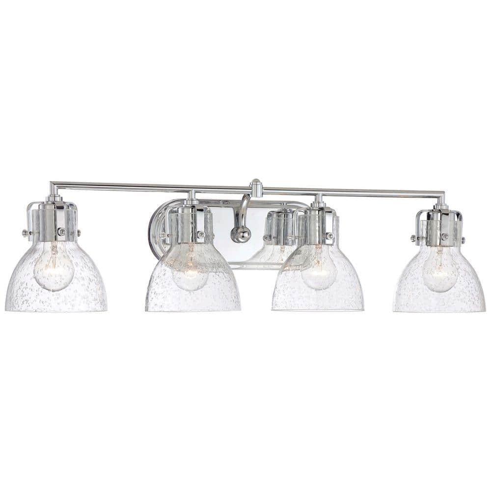 Minka Lavery 4 Light Chrome Bath Vanity Light 5724 77 The Home Depot