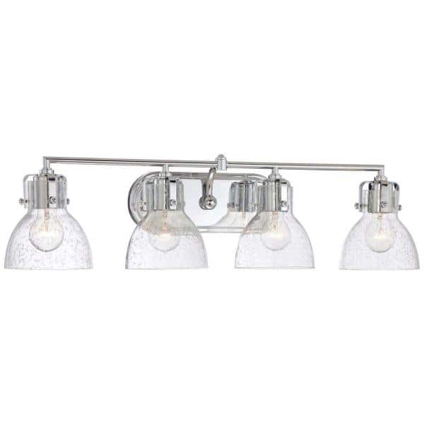 Minka Lavery 4 Light Chrome Bath Vanity Light 5724 77 The Home Depot