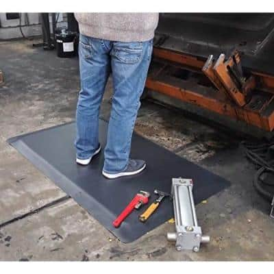 Industrial Smooth 3 ft. x 7 ft. x 7/8 in. Anti-Fatigue Commercial Floor Mat