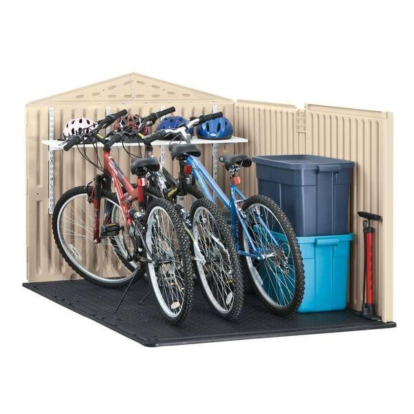 5 Ft Slide Lid Resin Shed 1800005, Outdoor Storage For Bikes