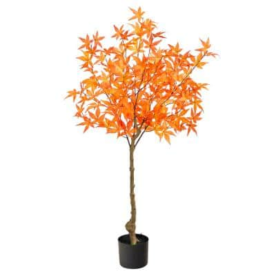 4 ft. Orange Autumn Maple Artificial Tree