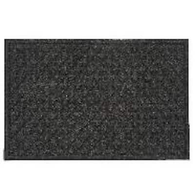 Quadra Foil Graphite 2 ft x 3 ft synthetic fiber Door Mat area rug