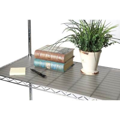 36 in. x 18 in. Smoke Gray 2 Individual Fitted Shelf Liners for Wire Shelves
