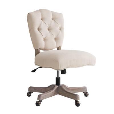 Fallon White Office Chair