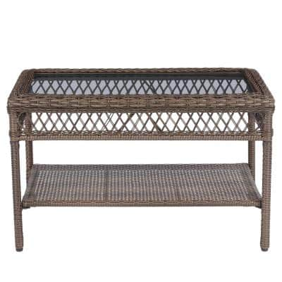 StyleWell Mix and Match Wicker Outdoor Patio Coffee Table