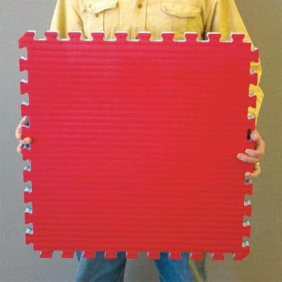 Home MMA BJJ Red/Blue 24 in. x 24 in. x 1-5/8 in. Foam Interlocking Floor Tile (Case of 10)