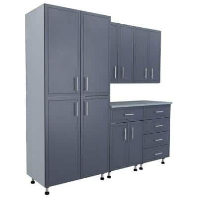 80.5 in. x 84 in. x 21 in. ProGarage Basic Storage Systems in Gray (6-Piece)