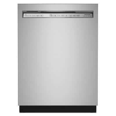 24 in. PrintShield Stainless Steel Front Control Built-in Tall Tub Dishwasher with Stainless Steel Tub, 44 dBA
