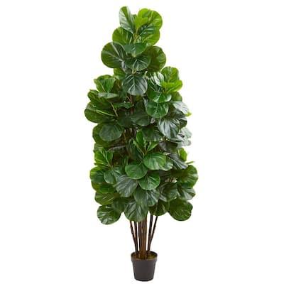 6 ft. Indoor Fiddle Leaf Fig Artificial Tree