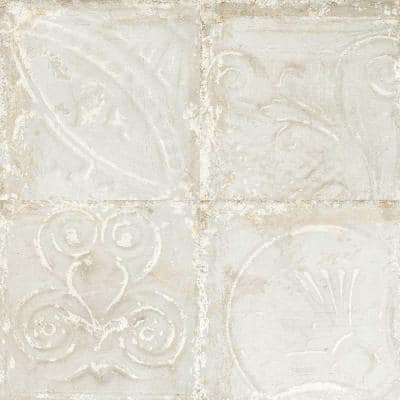 SassuoloWhite Relief 12 in. x 12 in. Glazed Porcelain Floor and Wall Tile (12 sq. ft./Case)