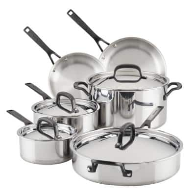 10-Piece Stainless Steel Induction Cookware Set
