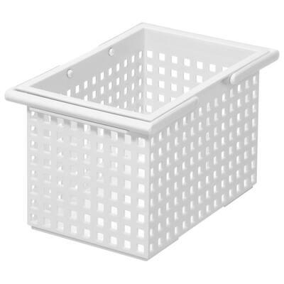 1.8 Gal. Stacking Plastic Organizer Storage Tote in White (6-Pack)
