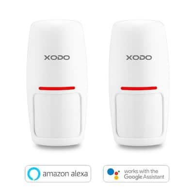 Smart Wireless WiFi Security Burglar Alarm Motion Sensors - Intruder Alert - Smart Phone Compatible - PIR Sensor(2-Pack)